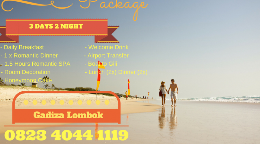 Honey Moon Package Lombok
