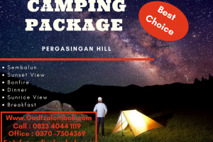 Salah Satu Lokasi Camping Terbaik di Lombok