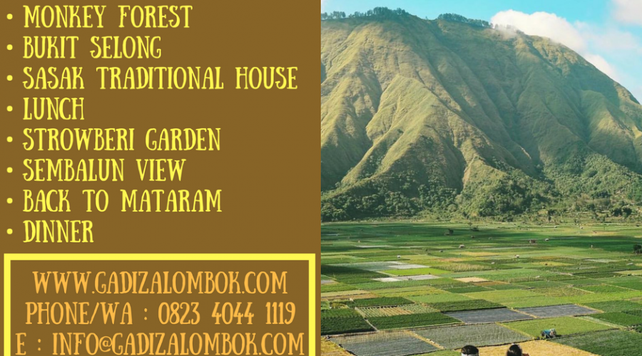 Sembalun Paket (Special Bukit Selong View) Perpaduan Keindahan Alam Lombok