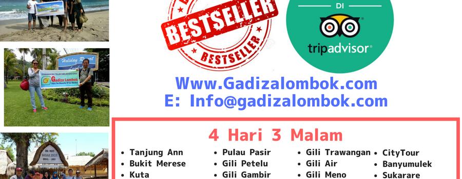 BEST SELLER Paket Wisata Lombok 4 Hari 3 Malam (with Lobster Show)