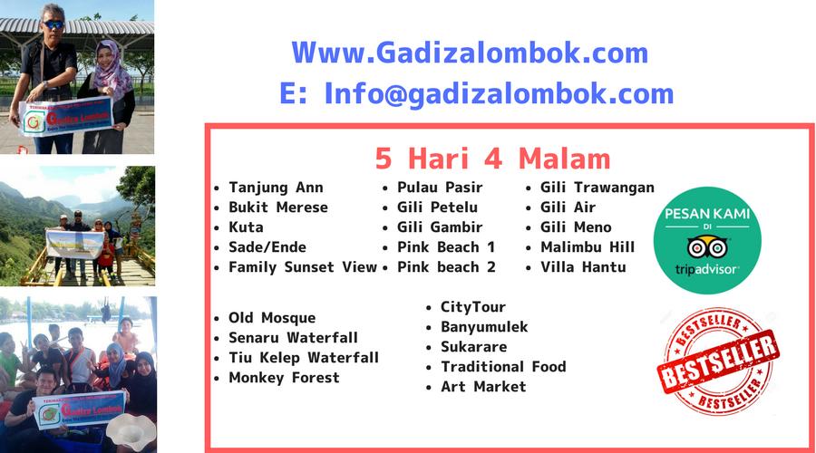 Best Seller Paket Wisata Lombok 5 Hari 4 Malam