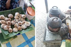 Serabi Lak – Lak, kuliner Unik Khas Lombok di Sekitar Pantai Pink
