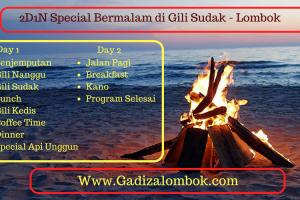 Paket 2D1N (Spesial Bermalam di Pulau Sunyi Gili Sudak- Lombok)